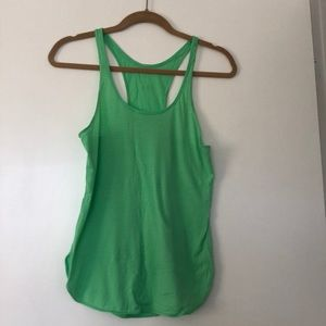 Lulu lemon grey and green athletic top